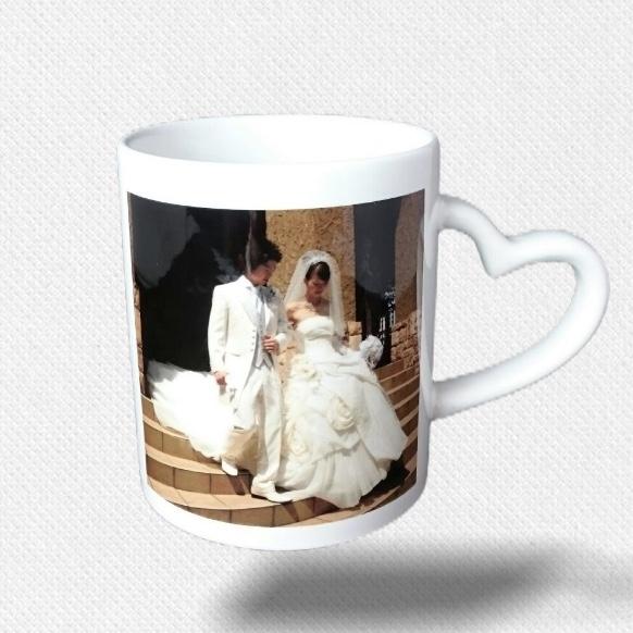 ハートハンドルマグカップ