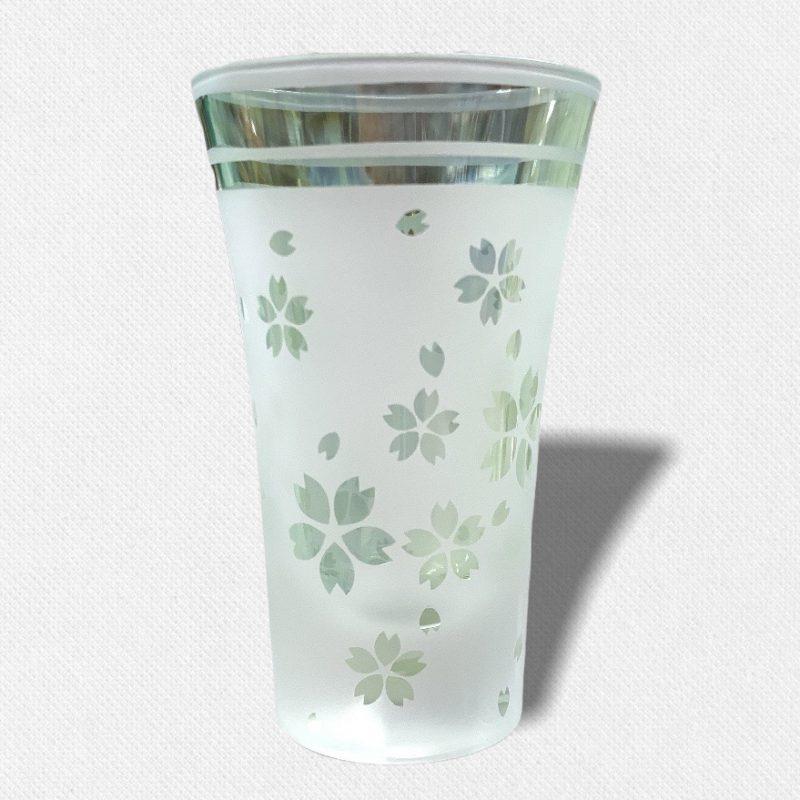 酒盃 流れる桜Ⅱ グリーン