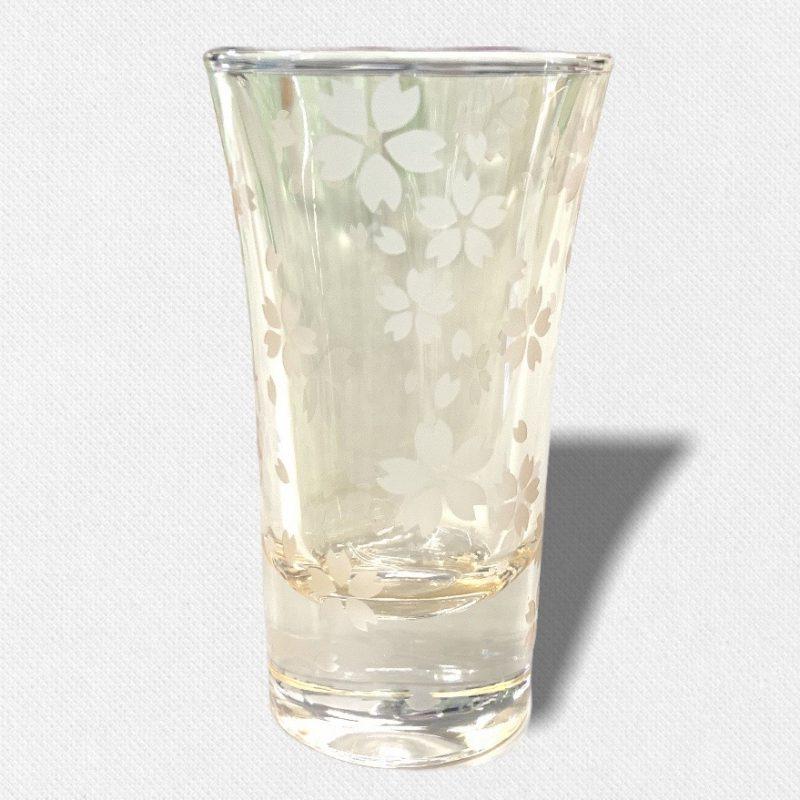 酒盃 流れる桜Ⅲ 琥珀