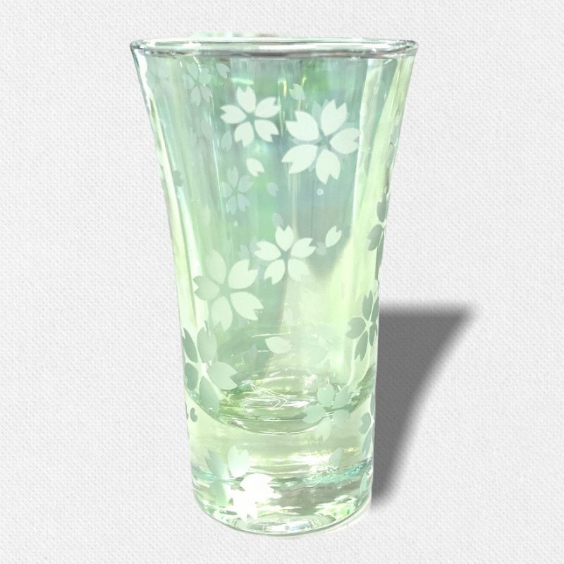 酒盃 流れる桜Ⅲ グリーン