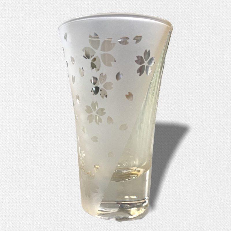 酒盃 流れる桜Ⅳ 琥珀