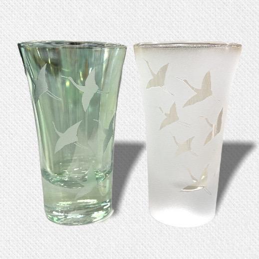 酒盃 飛翔鶴 ペアグラス