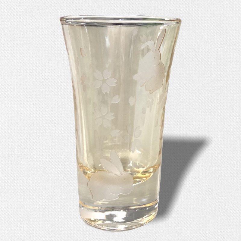 酒盃 うさぎと桜 琥珀